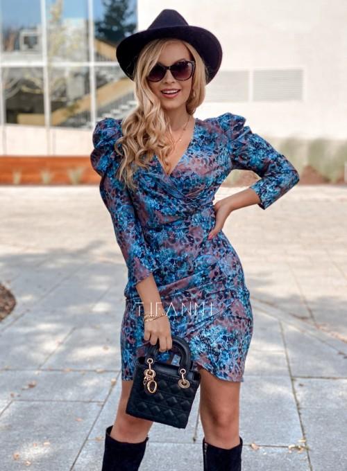 Sukienka z kopertowym dekoltem Rocca blue 5