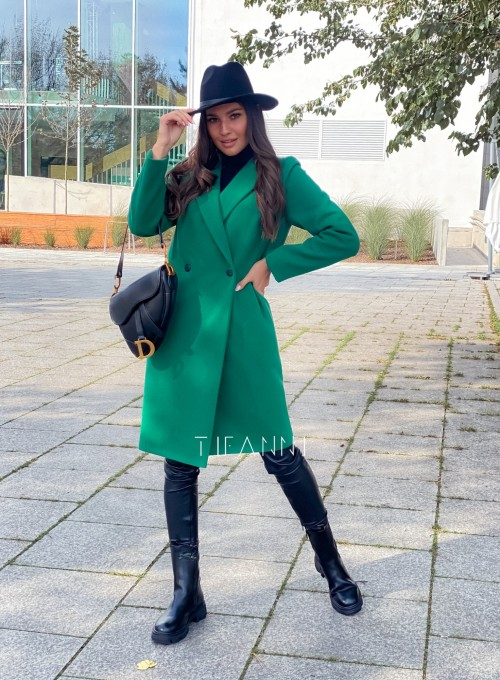 Plaszcz Polly w kolorze zielonym 2