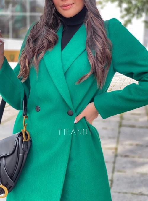 Plaszcz Polly w kolorze zielonym 3