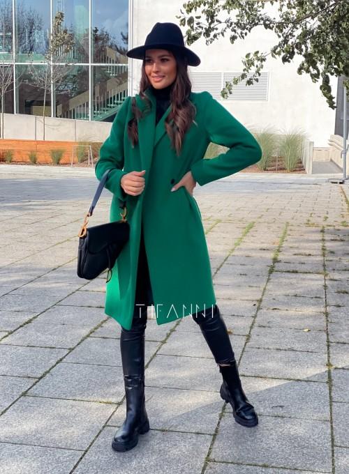 Plaszcz Polly w kolorze zielonym 4