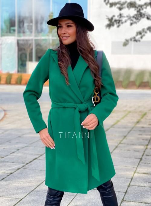 Plaszcz Polly w kolorze zielonym 5