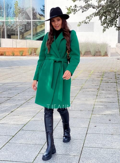 Plaszcz Polly w kolorze zielonym 7
