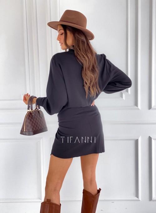Sukienka wiązana Mauro czarna 2