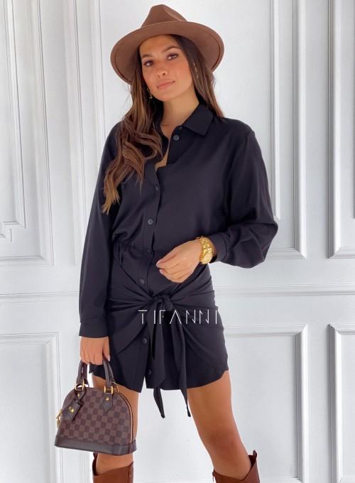 Sukienka wiązana Mauro czarna 3