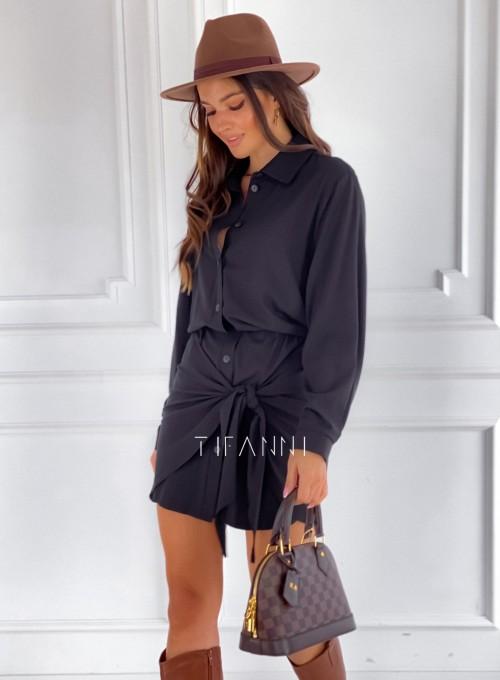 Sukienka wiązana Mauro czarna 5