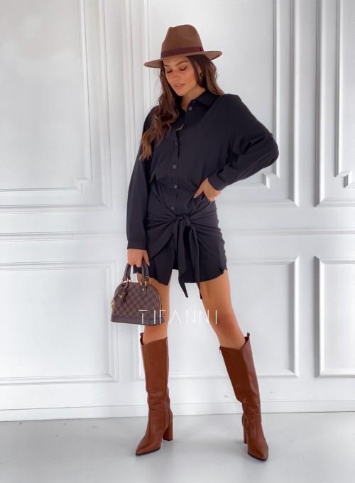 Sukienka wiązana Mauro czarna 1