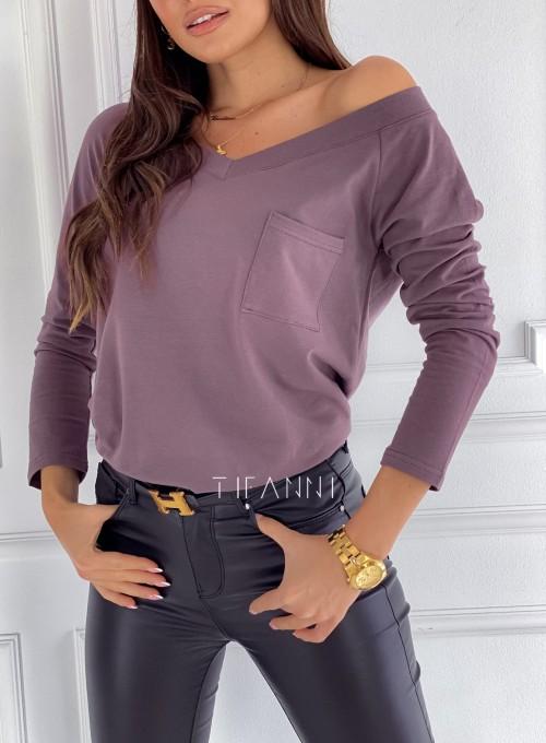 Bluzka z kieszonką Lili choco 1