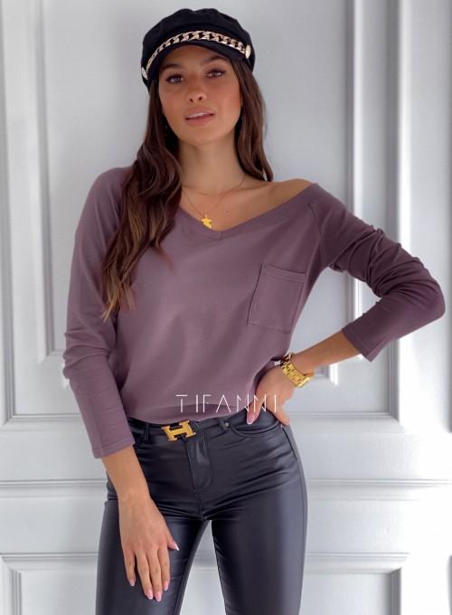 Bluzka z kieszonką Lili choco 3