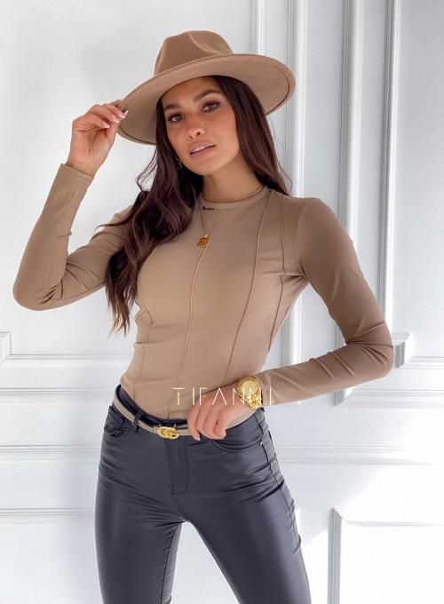 Bluzka top Azari beżowa 3