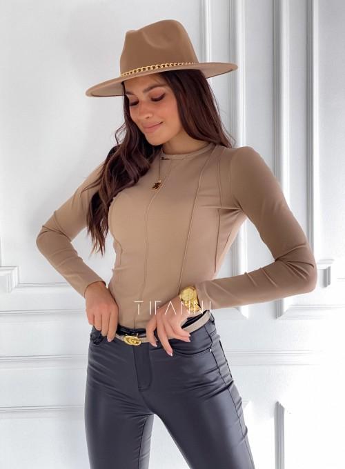 Bluzka top Azari beżowa 4