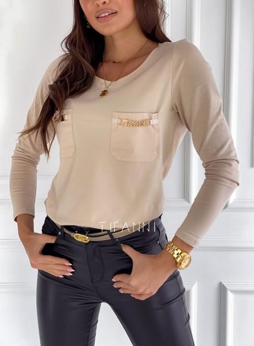 Bluzka Jasmin beżowa 1