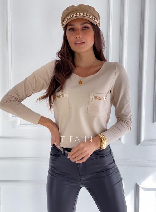 Bluzka Jasmin beżowa 3