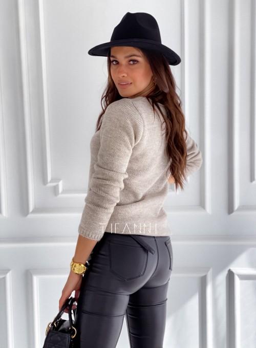 Sweter Pandi beżowy 2