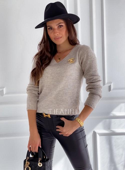 Sweter Pandi beżowy 5