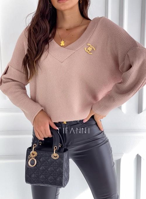 Sweter Alis brudny róż 1