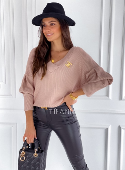 Sweter Alis brudny róż 2