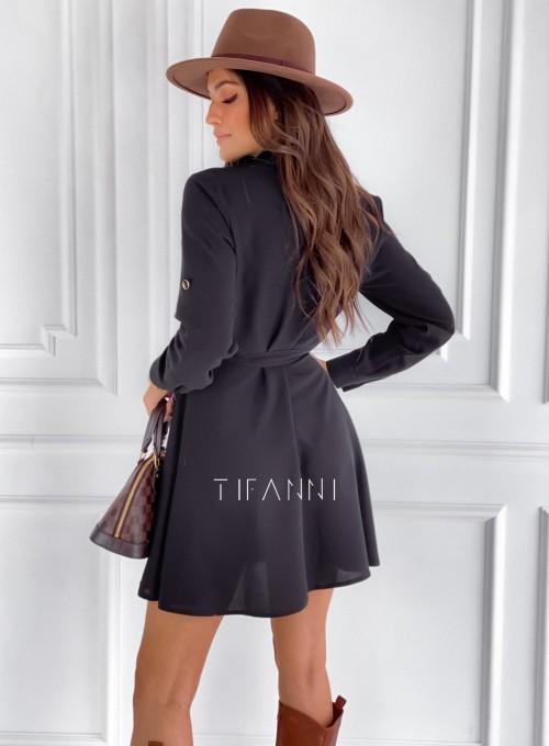 Sukienka koszulowa Kais czarna 2
