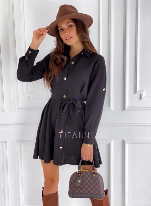 Sukienka koszulowa Kais czarna 3