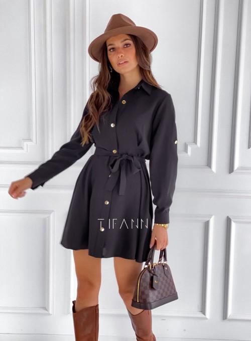 Sukienka koszulowa Kais czarna 4