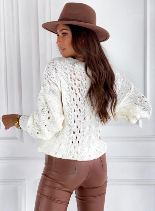 Sweter Simply śmietankowy 4