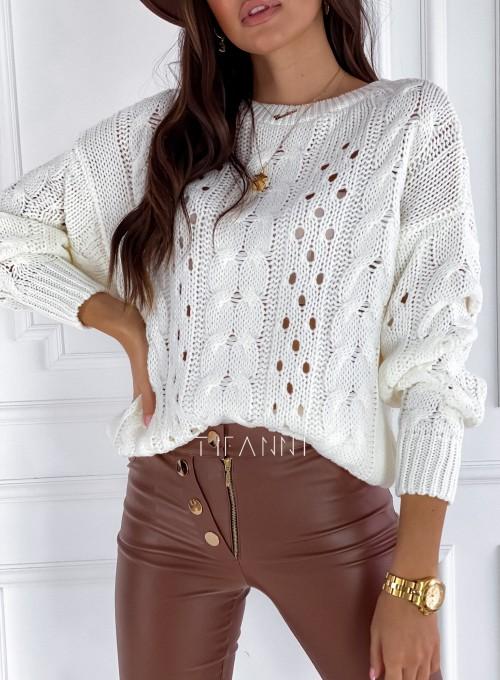 Sweter Simply śmietankowy 1