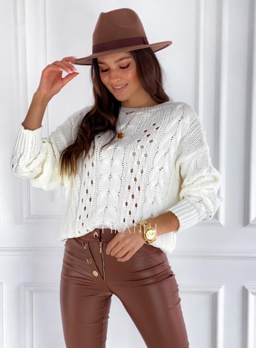 Sweter Simply śmietankowy 3