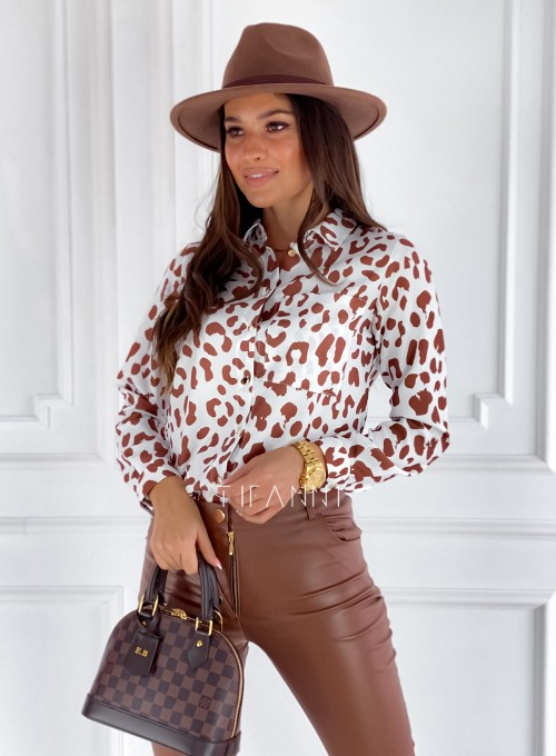 Koszula Pampi panther karmel 4