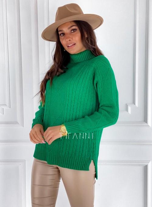 Sweter golf Rael zielony 3