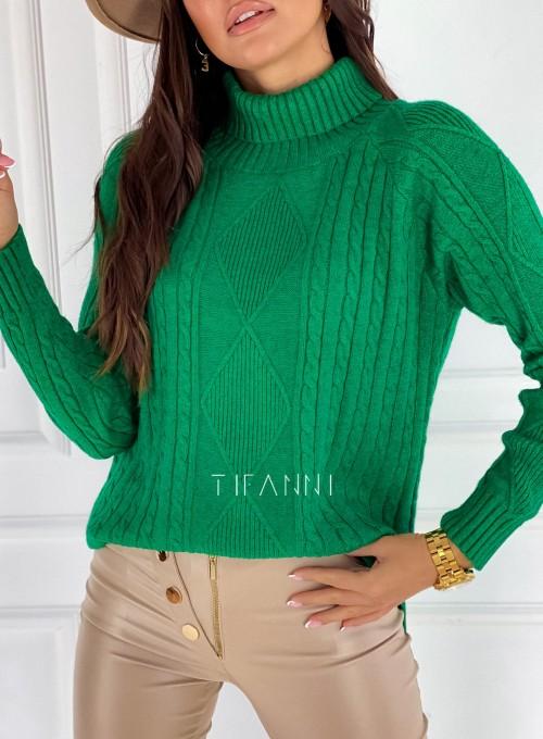 Sweter golf Rael zielony 4