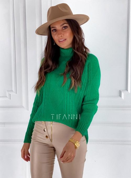 Sweter golf Rael zielony 5