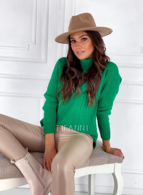 Sweter golf Rael zielony 1