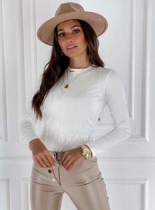 Bluzka top Azari śmietankowy 4