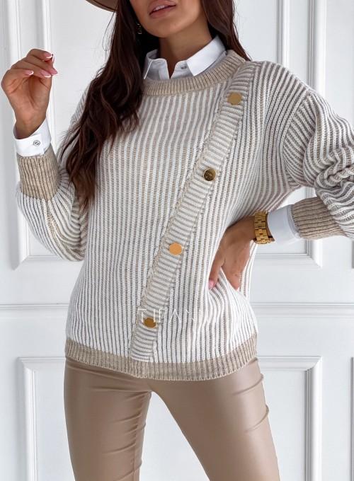 Sweter z ozdobnymi napami Mille 1