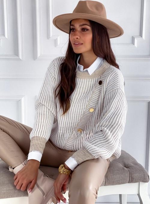 Sweter z ozdobnymi napami Mille 2