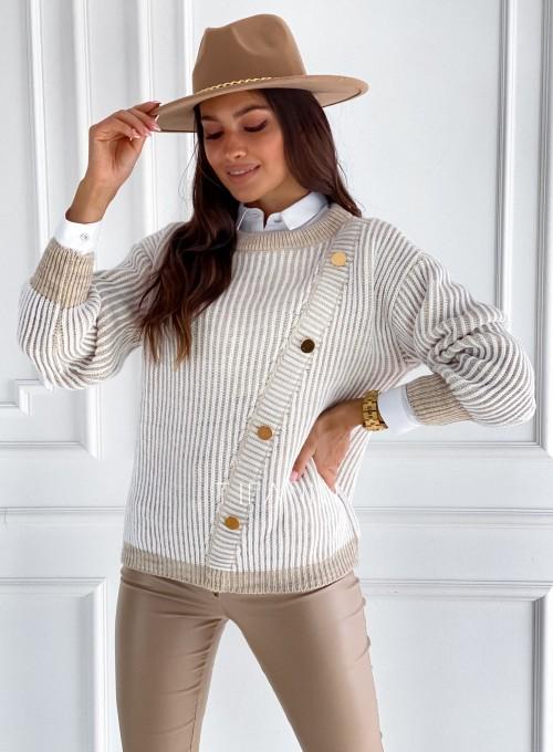 Sweter z ozdobnymi napami Mille 3