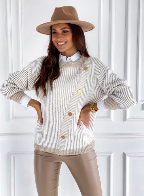 Sweter z ozdobnymi napami Mille 4
