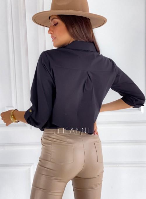 Bluzka koszulowa Best czarna 3