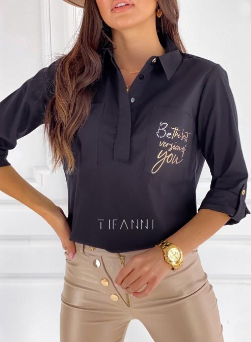 Bluzka koszulowa Best czarna 1