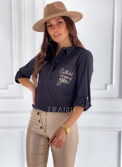 Bluzka koszulowa Best czarna 4