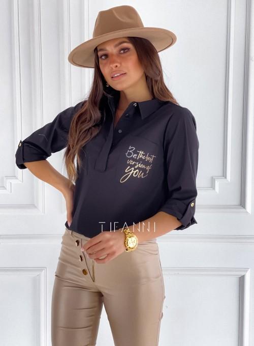 Bluzka koszulowa Best czarna 5