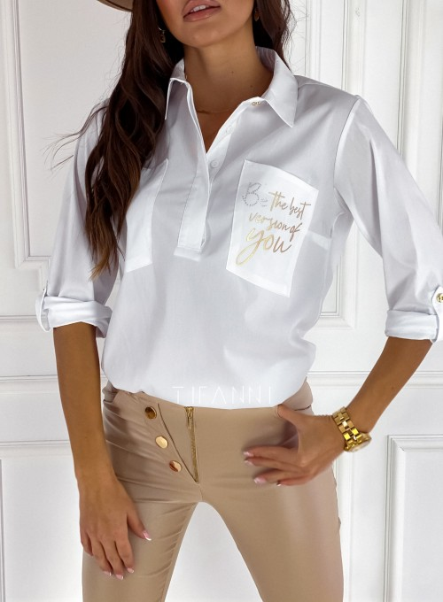Bluzka koszulowa Best biała 1