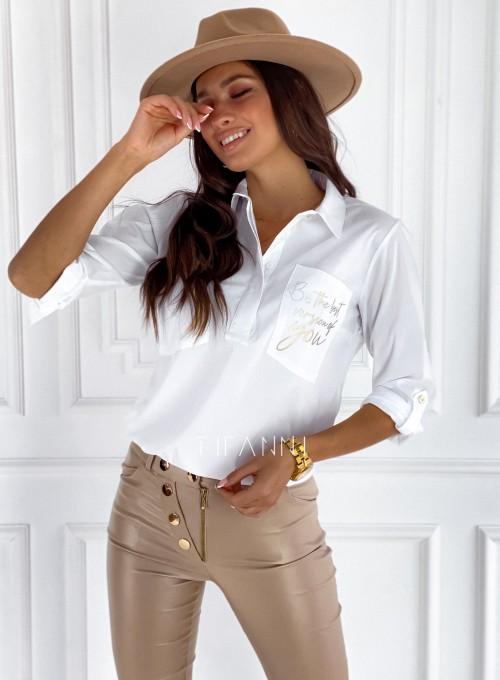 Bluzka koszulowa Best biała 4
