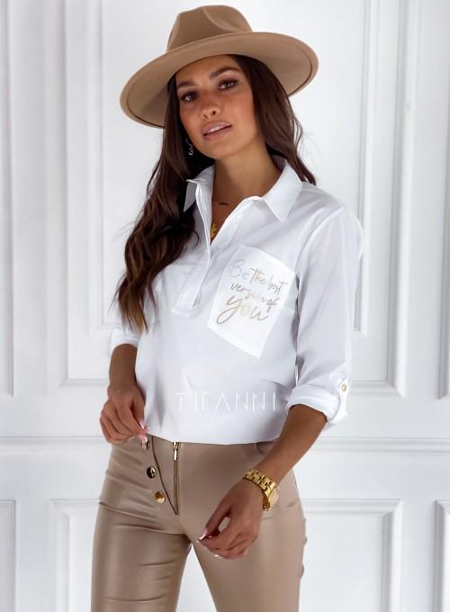 Bluzka koszulowa Best biała 2