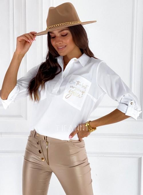 Bluzka koszulowa Best biała 5