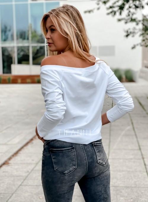 Bluzka z kieszonką Lili biała 3