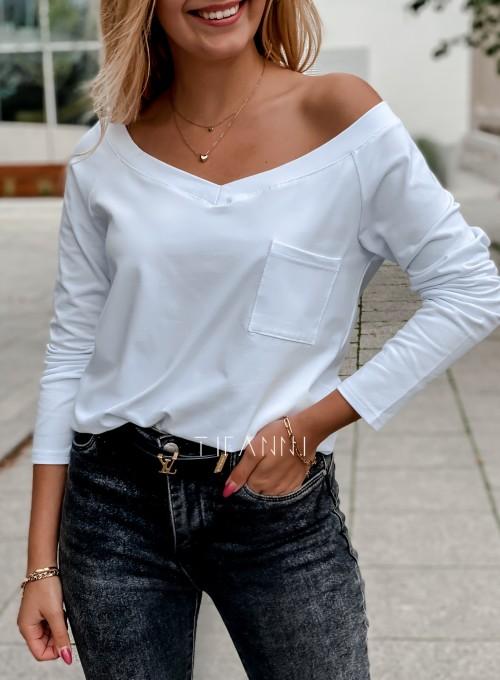 Bluzka z kieszonką Lili biała 1