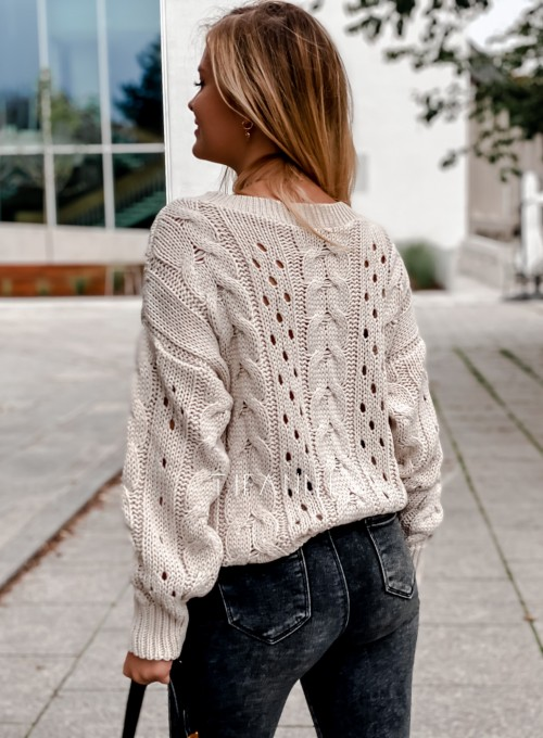 Sweter Simply beżowy 3
