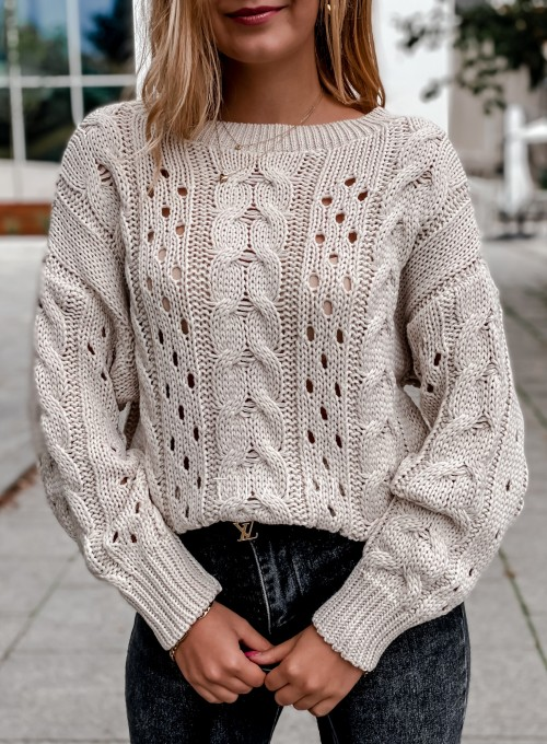 Sweter Simply beżowy 1