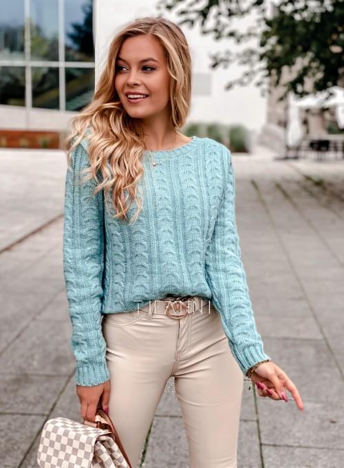 Sweter z warkoczem Cristi