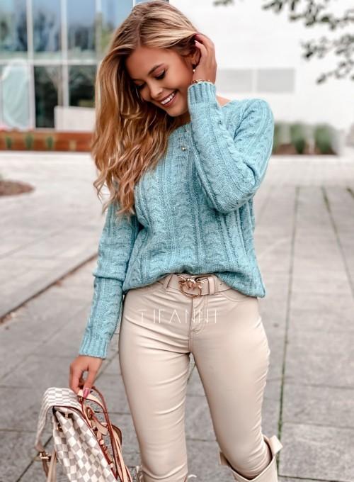 Sweter z warkoczem Cristi 1